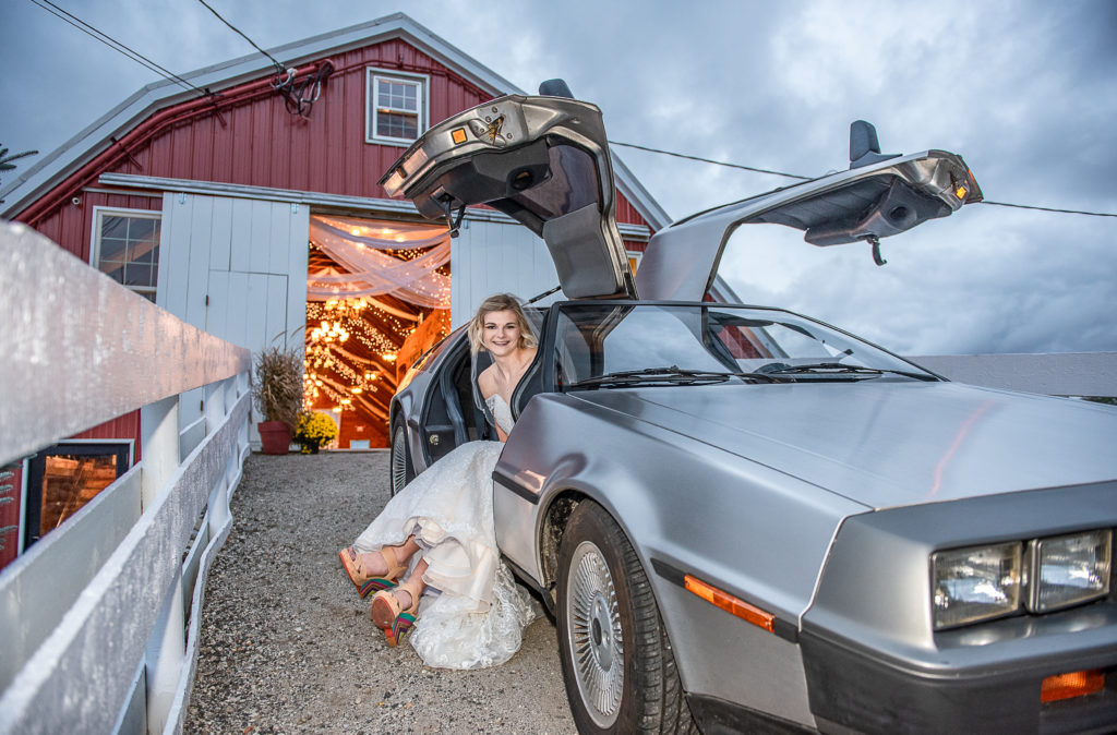 Rent our DeLorean for special occasion pictures!